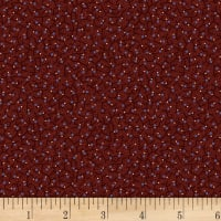 P&B French Paisley Tiny Dots Dark Red