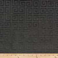 Morgan Fabrics Velvet Greek Key Coal