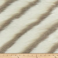 Morgan Fabrics Coaster Faux Fur Smoke