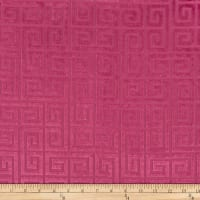 Morgan Fabrics Velvet Greek Key Fuschia