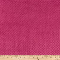 Morgan Fabrics Velvet Check Fuschia