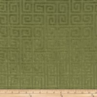 Morgan Fabrics Velvet Greek Key Cactus