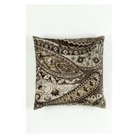 Morgan Fabrics Velvet Paisley Pillow 1