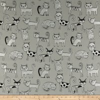 Swavelle Cool Cats Jacquard Gray
