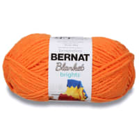 Bernat Blanket Brights Yarn (300g/10.5 oz), Carrot Orange