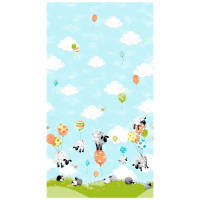 Susybee Lewe's Balloons Single Border Aqua/Multi