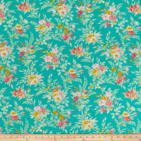 Freespirit Darling Meadow Little Bouquet Teal
