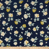 Freespirit Dream Cottage Falling Blooms Navy