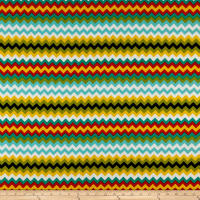 Cotton Duck Basics SW Chevron (Bolt, 8 Yards) Lido Beach