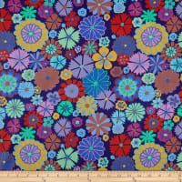 Kaffe Fassett Artisan Folk Flower Purple