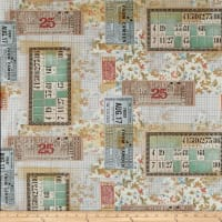 Tim Holtz Eclectic Elements Memoranda Tickets Multi