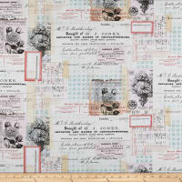 Tim Holtz Eclectic Elements Memoranda Chrysanthemum Multi
