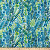 Freespirit Arcadia Farmyard Feathers Teal