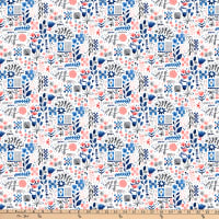 FIGO Eloise's Garden Tiles And Flowers Pink/White