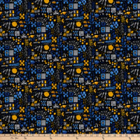 FIGO  Eloise's Garden Tiles And Flowers Yellow/Black