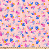 FIGO  Tropical Jammin' Tropical Flowers Pink/Multi