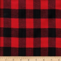 Windstar Twill Flannel 1inch Buffalo Check Black/Red