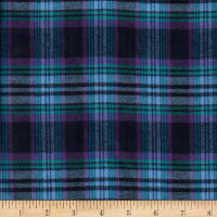 Windstar Twill Flannel Plaid Navy/Purple/Light Blue