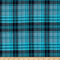 Windstar Twill Flannel Plaid Teal/Navy