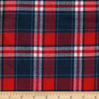 Windstar Twill Flannel Plaid Red/White/Blue