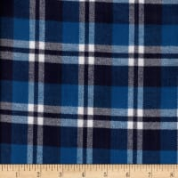 Windstar Twill Flannel Plaid Navy/Blue/White