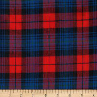 Windstar Twill Flannel Plaid Red/Navy/Royal