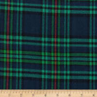 Windstar Twill Flannel Plaid Navy/Red/Green/Teal