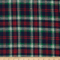Windstar Twill Flannel Plaid Navy/Red/Green/Natural