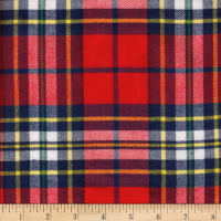 Windstar Twill Flannel Plaid Red/Navy/Yellow/Green