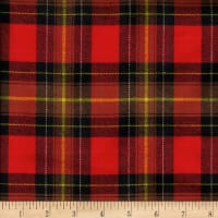 Windstar Twill Flannel Plaid Red/Brown/Black/Yellow