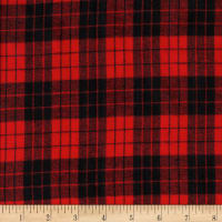Windstar Twill Flannel Plaid Black/Red