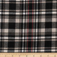 Windstar Twill Flannel Plaid Black/Tan/Red/White