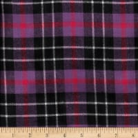 Windstar Twill Flannel Plaid Purple/Fuchsia/Black/White
