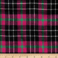 Windstar Twill Flannel Plaid Fuchsia/Green/Black