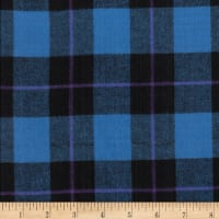 Windstar Twill Flannel Plaid Royal/Black/Purple