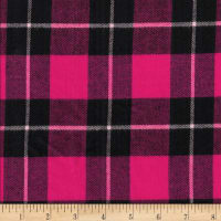 Windstar Twill Flannel Plaid Fuchsia/Black