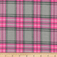 Windstar Twill Flannel Plaid Pink/Grey