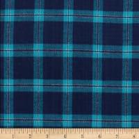 Windstar Twill Flannel Plaid Navy/Teal