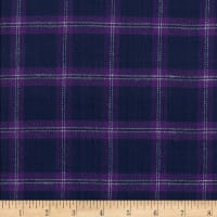 Windstar Twill Flannel Plaid Navy/Purple