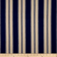 Designer Striped Ticking Basketweave Indigo