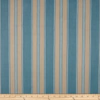 Designer Striped Ticking Basketweave Aqua