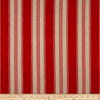 G P & J Baker Tango Ticking Basketweave Red