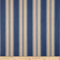 Designer Striped Ticking Basketweave Blue