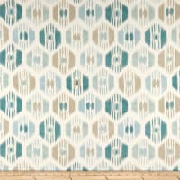 UK Designer Ikat Basketweave Aqua