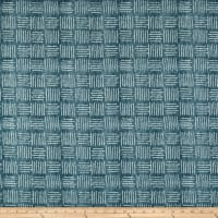 Designer Abstract Square Basketweave Indigo