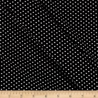 Double Brushed Poly Jersey Knit Small Dot Black
