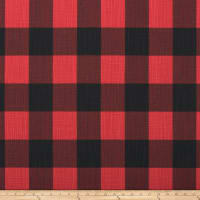 Premier Prints Buffalo Check Slub Canvas Red/Black