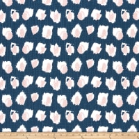 Premier Prints Plato Canvas Italian Denim/Blush