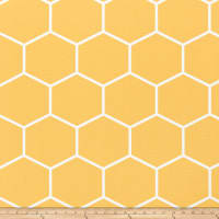 Premier Prints Shapes Canvas Brazilian Yellow