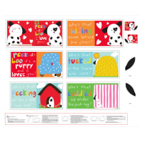"Huggable And Lovable 6 36"" Peek-A-Boo Book Panel Multi"